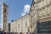 Piazza del duomo i Florens Italien — Stockfoto