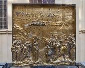 Panel de Ghiberti oro 1 — Foto de Stock