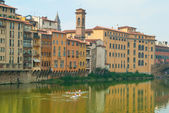 Exercise on the Arno River in Florence — Stock Photo