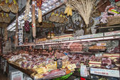 Meat Market in Florence Italy — Stock Photo