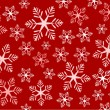 Red snowflakes background — Stock Vector