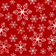 Red snowflakes background — Stock Vector #14941785