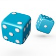 Blue Dices — Stock Photo