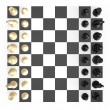 Chess Set and Board — Stock Photo