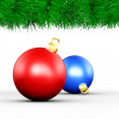 Christmas Border and Xmas Balls — Foto Stock #30404887