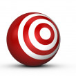 Red Sphere Target — Stock Photo