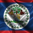 Wavy Flag of Belize — Foto Stock