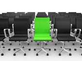 Green Chair in Conference Hall — Stock Photo