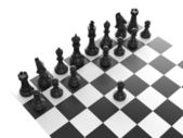 Black Chess Set — Stock Photo
