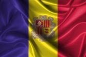 Wavy Flag of Andorra — Stock Photo