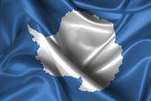 Wavy Flag of Antarctica — Stock Photo