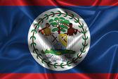 Wavy Flag of Belize — Stock Photo