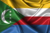 Wavy Flag of Comoros — Stock Photo