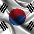 Wavy Flag of South Korea — Stock Photo