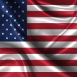 Wavy Flag of United States of America — Stock Photo