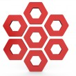 Hexagon Shapes — Stock Photo