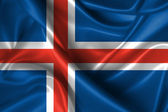 Wavy Flag of Iceland — Stock Photo