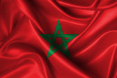 Wavy Flag of Morocco — Stock Photo