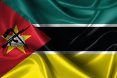 Wavy Flag of Mozambique — Stock Photo