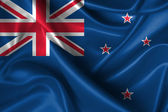 Wavy Flag of New Zealand — Stock Photo