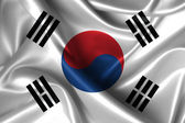Wavy Flag of South Korea — Stok fotoğraf