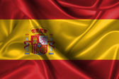 Wavy Flag of Spain — Stock Photo