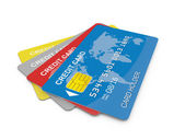 Credit Cards on White — Stok fotoğraf