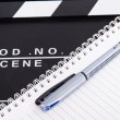 CinemClapper Board and Notebook — Stock Photo #30432545