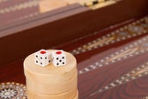 Backgammon and Double One — Stock Photo