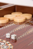 Backgammon and Double Six — Stock Photo