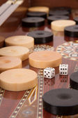 Complicated Backgammon Chips — Stock Photo
