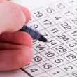 Stock Photo: Puzzle with Numbers and Pen