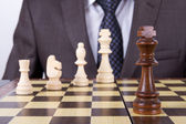 Businessman Playing Chess Game — Stock Photo