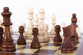 Playing Chess on Board — Foto de Stock