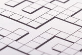 Blank Crossword Puzzle — Stock Photo