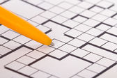 Blank Crossword Puzzle with Pen — Foto Stock