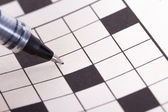 Blank Crossword Puzzle with Black Pen — ストック写真