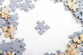 Single Puzzle Piece — Stock Photo