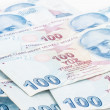 Turkish Lira Banknotes — Stock Photo