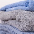 Blue Bathroom Towels — Stock Photo