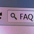 FAQ Text in Address Bar of Internet Browser — Stock Photo