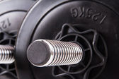 Black Gym Barbell — Foto Stock