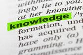 Kennis van het woord in woordenboek — Stockfoto