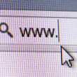 WWW Text in Address Bar — Stock Photo