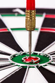 Arrows on Dart Board — Stock Photo