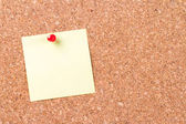 Sticky Post Pinned on Cork Board — Stock Photo