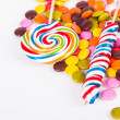 Lollipop Candy on Stick with Little Sugars — Stock Photo #34436635