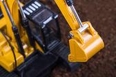Excavator Detail on Soil — Stock Photo