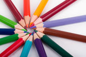 Colorful Pencils with Round Shape — Stock Photo