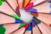 Colorful Pencils with Round Shape — Zdjęcie stockowe